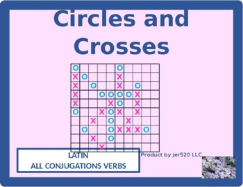 All Conjugations Latin verbs Mega Connect 4 game