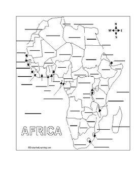 All Countries of Africa Physical Features Map
