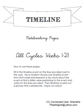 All Cycle (1,2,3) Notebook - Classical Conversations - Timeline - Weeks 1-24