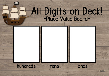 All Digits on Deck! - A Pirate Place Value Game