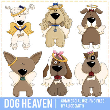 All Dogs go to Heaven Clip Art Graphics