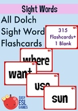 All Dolch Sight Word Flashcards