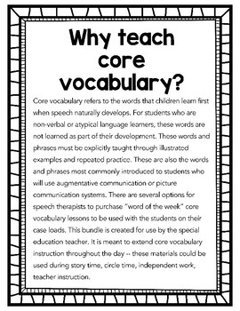 All Done Core Vocabulary Bundle PREVIEW for Special Education Teachers