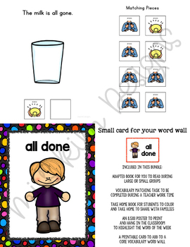 ALL DONE Core Vocabulary Bundle for Special Education Teachers