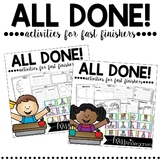 Fast Finisher Activities | Early Finishers Activities Bundle