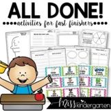 Fast Finisher Activities {Set Two} Early Finisher Activities