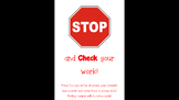 All Done Stop Sign