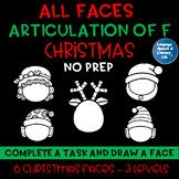 *All Faces -  No Prep Christmas Articulation of  F Speech Therapy Intervention