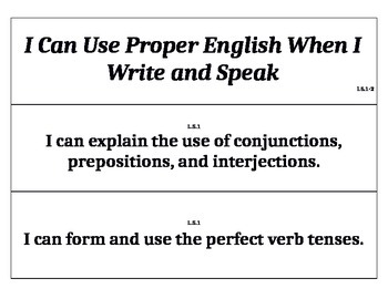 """All Fifth Grade Common Core Standards in """"I Can"""" Sentences"""