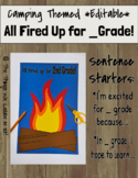 All Fired Up for _ Grade!  Camping Themed End of Year Craf