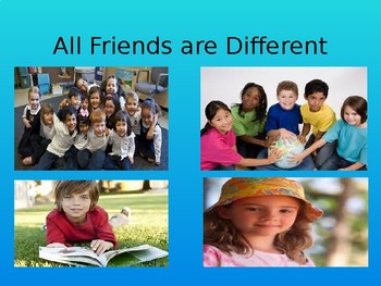 All Friends are Different Social Story