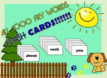 All Fry 1000 words flash cards
