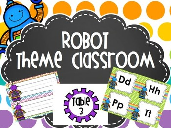 All Geared up for a great year: robot theme classroom