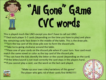 """All Gone""  Game-CVC set"