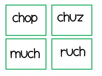 """All Gone""  Game- consonant digraph set"
