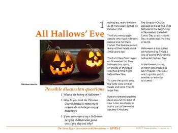 All Hallow's Eve and other international news events - Level 2