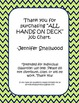 All Hands on Deck Navy and Lime Job Chart