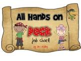 All Hands on Deck Pirate Classroom Job Chart EDITABLE