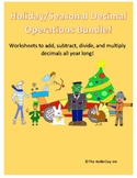 All Holiday Decimal Operation Bundle