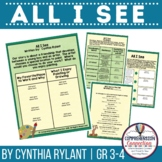 All I See by Cynthia Rylant Book Companion in PDF and Digital Formats