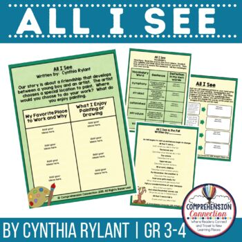 All I See by Cynthia Rylant Book Companion