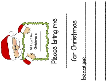 All I Want For Christmas- Santa Persuasive Writing