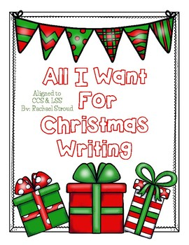 All I Want For Christmas Writing
