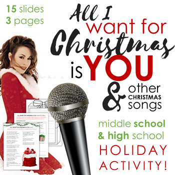All I Want For Christmas Is You Original.All I Want For Christmas Is You Creative Writing Minilesson Grades 6 12 Ccss