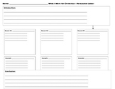 All I Want for Christmas - Persuasive Writing Template