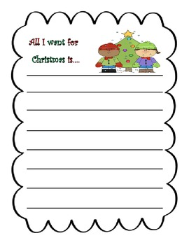 All I Want for Christmas Writing Prompt
