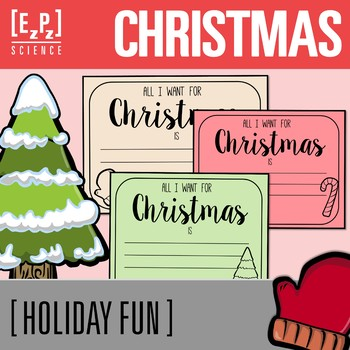 All I want for Christmas Cards Freebie