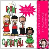 All I want for Christmas clip art - Mini - Melonheadz Clipart