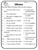 All Idioms Worksheets Meaning of Idioms Idioms Practice Wh