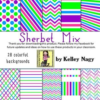 Sherbet Mix Digital Papers