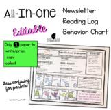 All-In-One Newsletter • Reading Log & Behavior Chart (Editable Template)