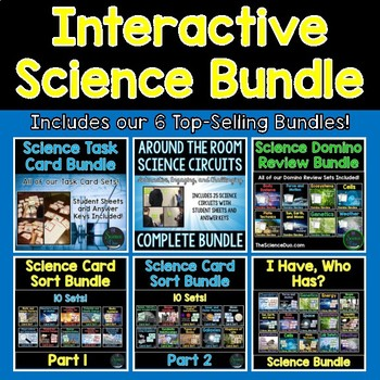 Interactive Science Bundle - Task Cards, Card Sorts, Circuits
