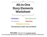 All-In-One Story Elements Worksheet