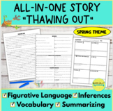 Inferences, Vocabulary, & Figurative Language In 1 Story- Spring Theme