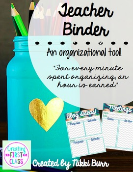 All-In-One Teacher Binder! An Organizational Tool