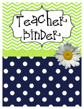 All In One Teacher Notebook (Navy/Lime Green)