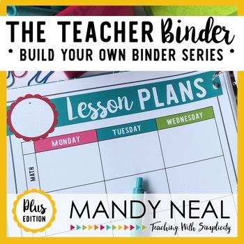The Teacher Binder {Plus Edition}