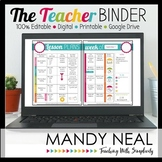 Editable Teacher Binder | Teacher Planner | Digital & Prin
