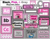 Classroom Resources for Back to School (Pink, Black, & Gray Theme)