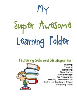 All-Inclusive Learning Skills and Strategies Folder - Blue & Green