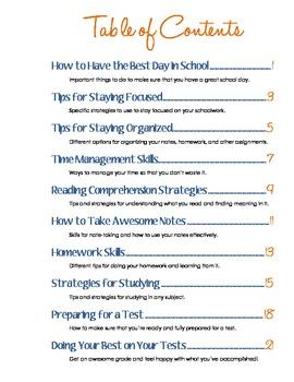 All-Inclusive Learning Skills and Strategies Folder - Blue & Orange