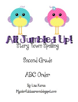 All Jumbled Up ABC Order StoryTown SECOND GRADE