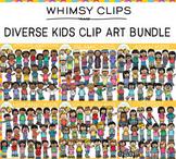 Diverse Kids Clip Art Bundle