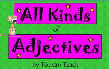 All Kinds of Adjectives SMARTBoard Activities