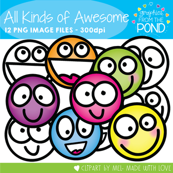All Kinds of Awesome - Face Clipart for Teaching Resources