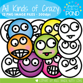 All Kinds of Crazy - Face Clipart for Teaching Resources